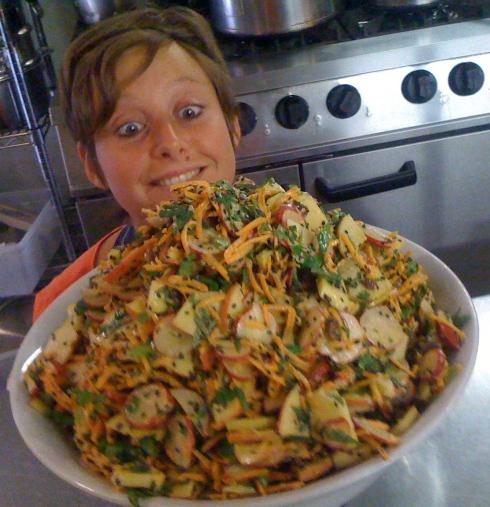 Sybille & the Moorish Salad..... Yummmeeeee...
