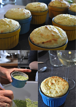 Spinach-Grand Marnier Souffles