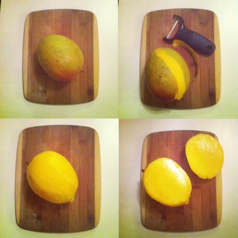 Mango peeled